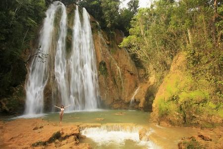 El Limon waterfall, Dominican Republic