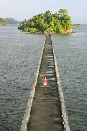 Bridge to Nowhere, Samana Bay, Dominican Republic Banco de Imagens