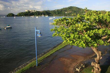 Promenade of Samana town, Dominican Republic
