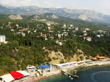 View of Simeiz, Crimea peninsula, Ukraine photo