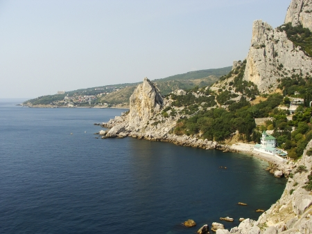 Rock Koshka, Simeiz, Crimea peninsula, Ukraine photo