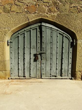 voroncov: Decorative door, Vorontsov palace walls, Alupka, Crimea, Ukraine Stock Photo