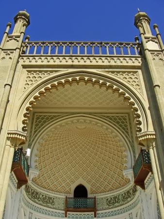 voroncov: Close up of southern facade of Vorontsov palace, Alupka, Crimea, Ukraine