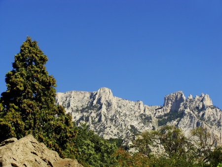 vorontsov: Ai-Petri mountains seen from Vorontsov palace, Crimea peninsula, Ukraine