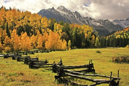 pine creek: Mount Sneffels Range, Colorado, USA