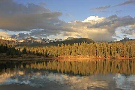 Molas lake and Needle mountains, Weminuche wilderness, Colorado, USA photo