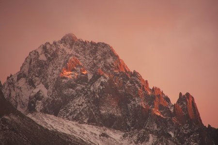 Mount Sneffels at sunrise, Colorado, USA photo