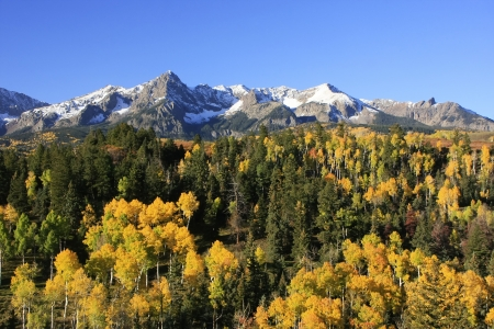 hayden: Mount Sneffels range, Colorado, USA Stock Photo