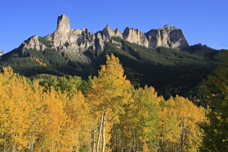 Courthouse mountain seen from Owl Creek pass, Ouray county, Uncompahgre wilderness, Colorado, USA photo