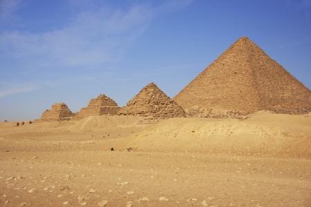 chephren: Pyramid of Menkaure and Pyramids of Queens, Cairo, Egypt