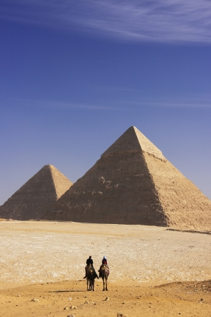 Great Pyramids of Giza, Cairo, Egypt Stok Fotoğraf