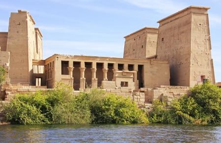 Tempio di Philae, il lago Nasser, in Egitto Archivio Fotografico - 21491672