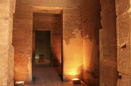 Interior of Philae Temple, Lake Nasser, Egypt