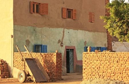 Old brick building on Banana island, Luxor, Egypt
