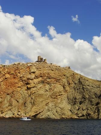 genoese: Genoese fortress Cembalo, Balaklava, Crimea, Ukraine Stock Photo