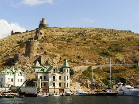 genoese: Genoese fortress Cembalo and Balaklava town, Crimea, Ukraine