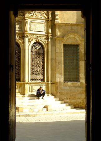 distric: Al-Muizz street, Islamic distric, Cairo, Egypt Editorial