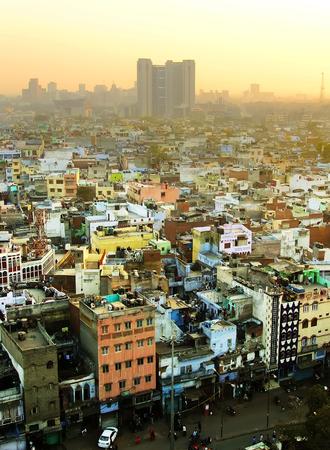 delhi: View of Delhi from Jama Masjid, India Stock Photo