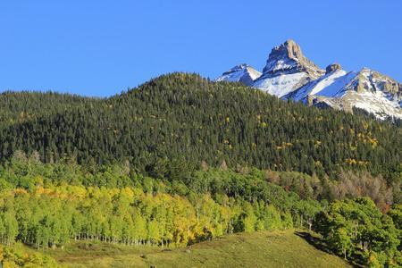 White House mountain, Mount Sneffels Range, Colorado, USA photo