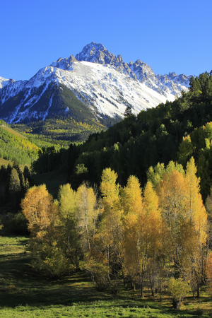 hayden: Mount Sneffels, Uncompahgre National Forest, Colorado, USA Stock Photo