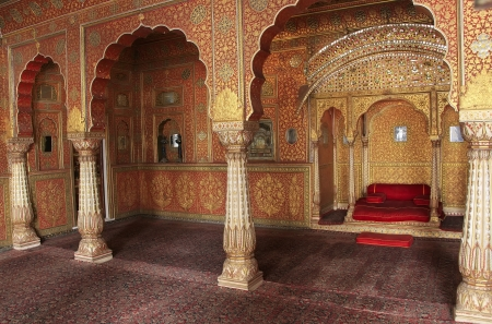 bikaner: Private Audience Hall, Junagarh fort, Bikaner, Rajasthan, India