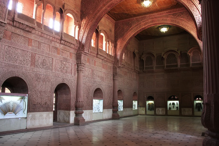 bikaner: Interior Hall of Junagarh fort, Bikaner, Rajasthan, India Editorial