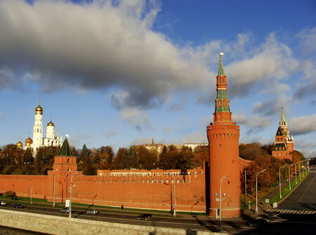 View of the Kremlin wall, Moscow, Russia photo