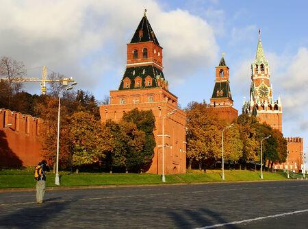 spasskaya: Kremlin wall and Spasskaya Tower, Moscow, Russia