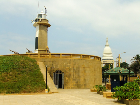 colombo: Colombo lighthouse, Galbokka Point, Sri Lanka Stock Photo