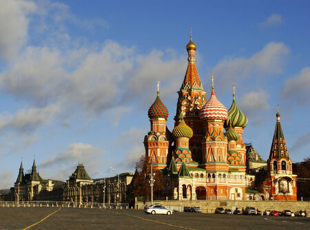 Cathedral of Vasily the Blessed, Red Square, Moscow, Russia Stock Photo
