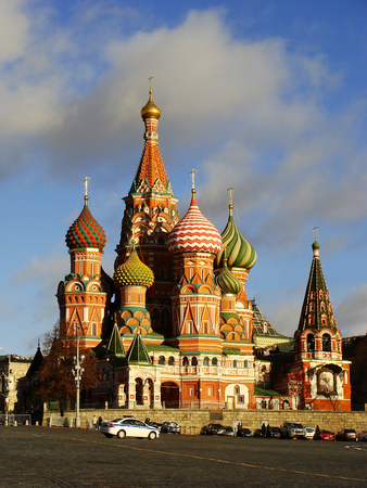 vasily: Cathedral of Vasily the Blessed, Red Square, Moscow, Russia Stock Photo
