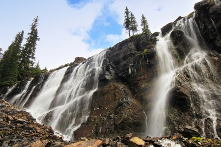 Seven Veils Falls, Lake Ohara, Yoho National Park, British Columbia, Canada