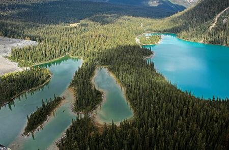 Mary Lake and Lake Ohara, Yoho National Park, British Columbia, Canada 版權商用圖片