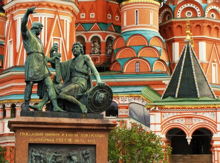 Monument to Minin and Pozharsky, Red Square, Moscow, Russia photo