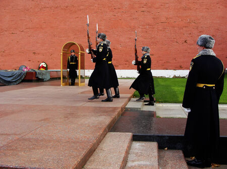 tomb of the unknown soldier: Changing of the Honor Guard Ceremony, Tomb of the Unknown Soldier, Moscow, Russia
