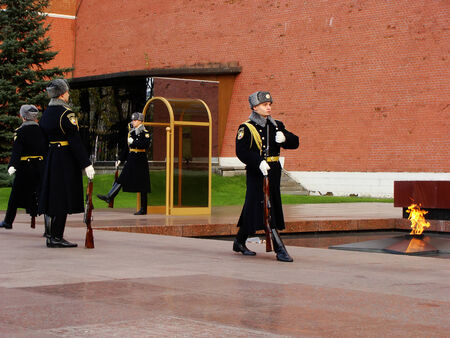 Changing of the Honor Guard Ceremony, Tomb of the Unknown Soldier, Moscow, Russia