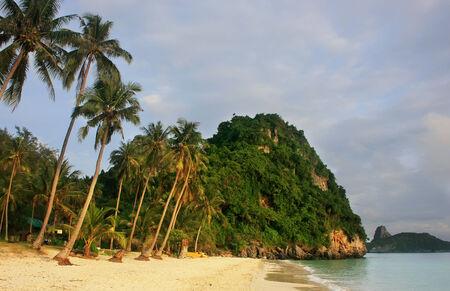 Wua Talab island at sunrise, Ang Thong National Marine Park, Thailand photo