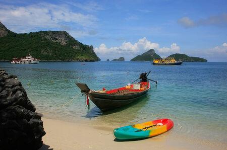 Longtail boat at Mae Koh island, Ang Thong National Marine Park, Thailand