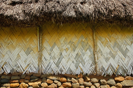 Detail of traditional house of Navala village, Viti Levu island, Fiji Stock Photo - 26007650