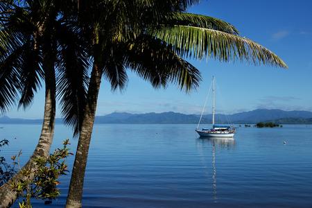 Savusavu harbor, Vanua Levu island, Fiji, South Pacific