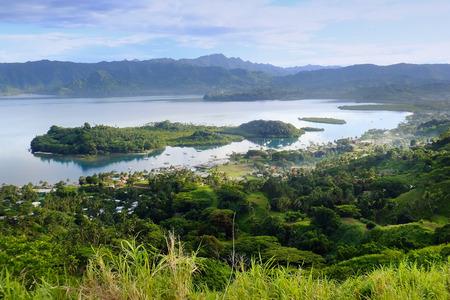 islet: Savusavu marina and Nawi islet, Vanua Levu island, Fiji, South Pacific