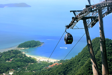 cables: Sky Bridge cable car, Langkawi island, Malaysia, Southeast Asia