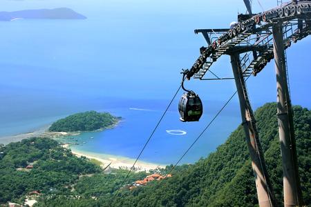 Sky Bridge kabelbaan, Langkawi eiland, Maleisië, Zuid-Oost Azië