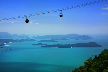 langkawi: Sky Bridge cable car, Langkawi island, Malaysia, Southeast Asia