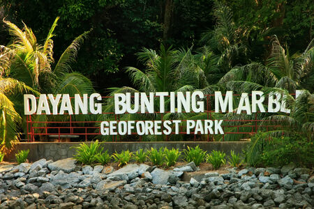 geoforest: Marble Geoforest Park sign, Langkawi, Malaysia