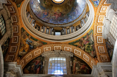 Interior of Saint Peters Basilica, Vatican City, Rome