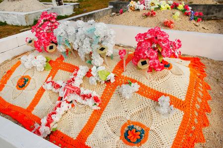 burried: Graveyard on Ofu Island, Vavau group, Tonga