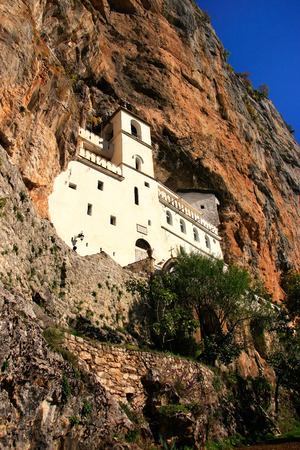 Upper church of Ostrog Monastery, Montenegro, Balkans