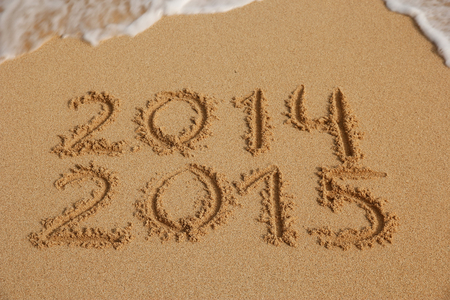 end month: New Year 2015 coming concept
