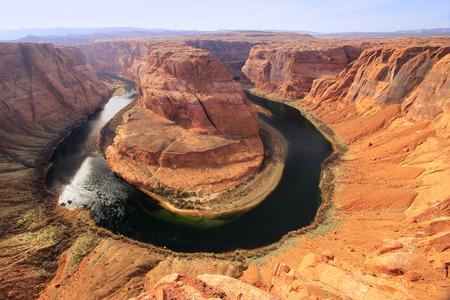 Horseshoe bend seen from overlook, Arizona photo